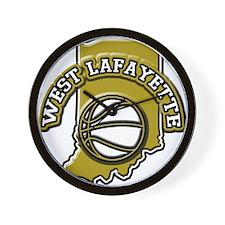 West Lafayette Basketball Wall Clock