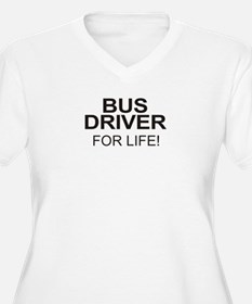 Bus Driver For Life Women's Plus Size V-Neck Tee