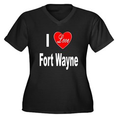 I Love Fort Wayne (Front) Women's Plus Size V-Neck
