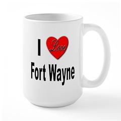 I Love Fort Wayne Large Mug