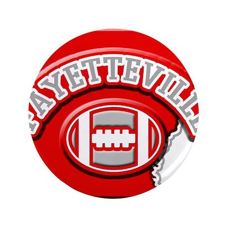 "Fayetteville Football 3.5"" Button"