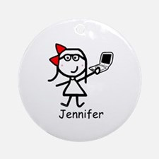 Mac - Jennifer Ornament (Round)