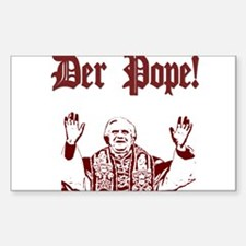 Der Pope! Rectangle Decal
