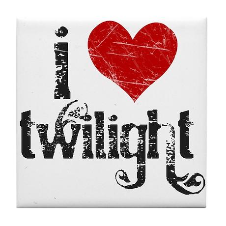 I Love Twilight Tile Coaster