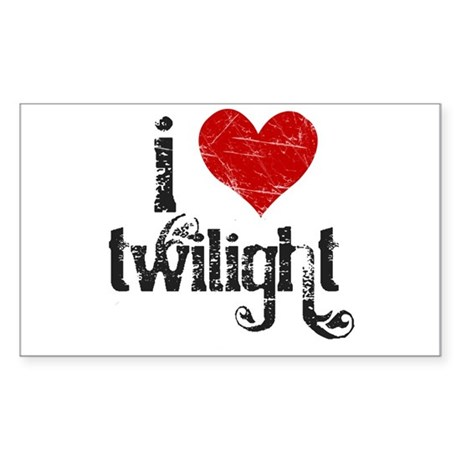 I Love Twilight Rectangle Sticker