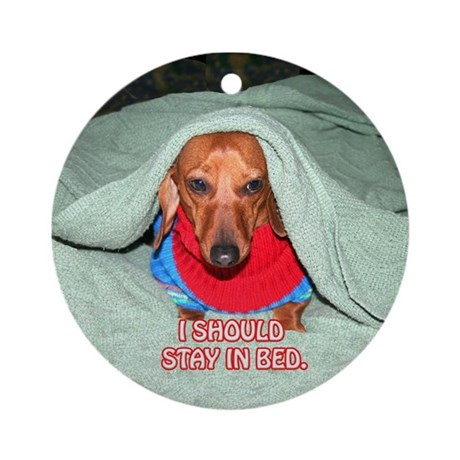Stay in Bed Ornament (Round)