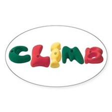 CLIMB hand holds Oval Decal