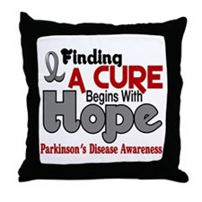 HOPE Parkinson's Disease 5 Throw Pillow