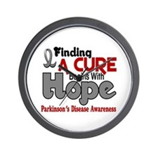 HOPE Parkinson's Disease 5 Wall Clock