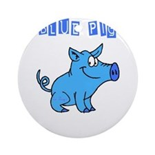 BLUE PIG Ornament (Round)