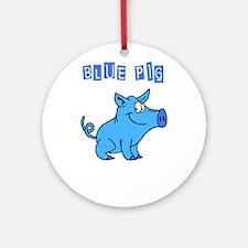 BLUE PIG Ornament (Round)