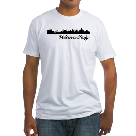 Volterra Italy Skyline Fitted T-Shirt