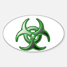 biohazard Oval Decal