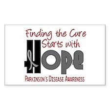 HOPE Parkinson's Disease 4 Rectangle Decal