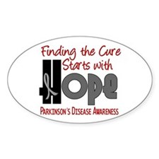 HOPE Parkinson's Disease 4 Oval Decal