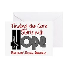 HOPE Parkinson's Disease 4 Greeting Cards (Pk of 2