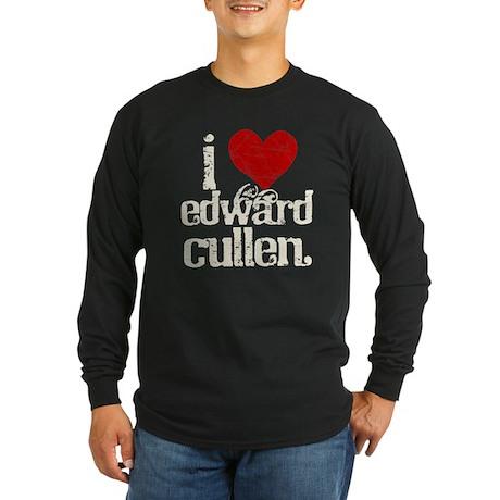 I Heart Edward Cullen Long Sleeve Dark T-Shirt
