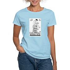 Reading Girl atop books T-Shirt
