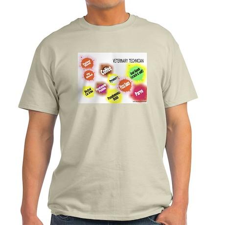 Veterinary Technician Splat Light T-Shirt