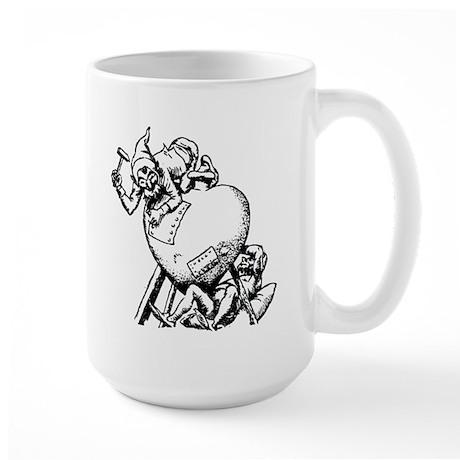 Elves Repairing Broken Heart Large Mug