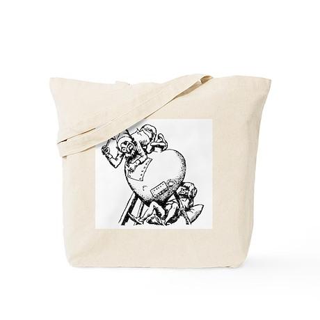 Elves Repairing Broken Heart Tote Bag