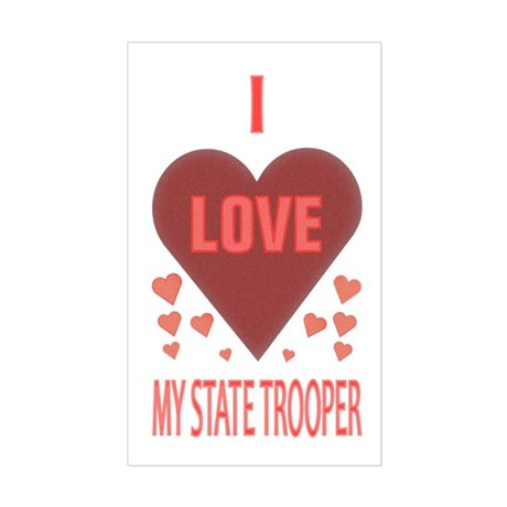 My State Trooper Rectangle Sticker