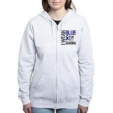 I Wear Blue Grandma Zip Hoodie