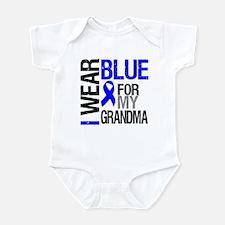 I Wear Blue Grandma Infant Bodysuit