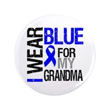 "I Wear Blue Grandma 3.5"" Button"