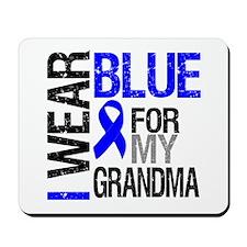 I Wear Blue Grandma Mousepad