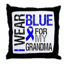 I Wear Blue Grandma Throw Pillow