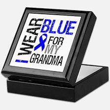 I Wear Blue Grandma Keepsake Box