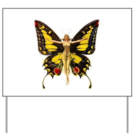 QUEEN OF THE BUTTERFLIES Yard Sign