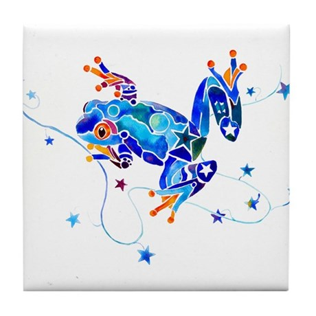 Crazy Tree Frogs Tile Coaster