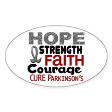 HOPE Parkinson's Disease 3 Oval Decal