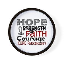 HOPE Parkinson's Disease 3 Wall Clock