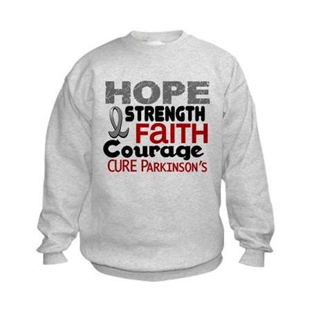 HOPE Parkinson's Disease 3 Kids Sweatshirt