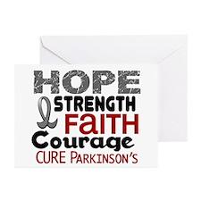 HOPE Parkinson's Disease 3 Greeting Cards (Pk of 1