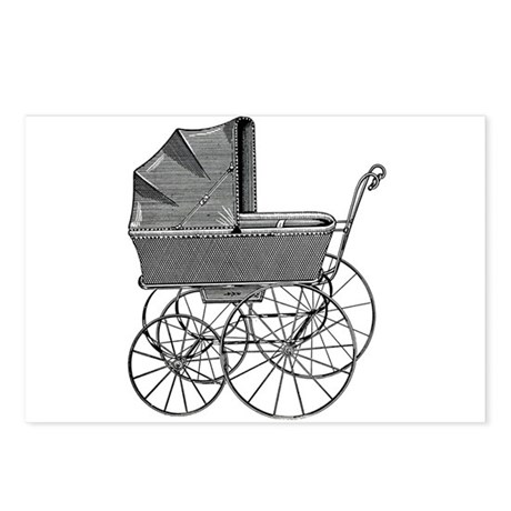 Baby Carriage (Pram) Postcards (Package of 8)