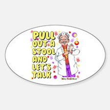Pull out a stool Oval Sticker (10 pk)