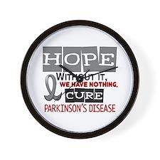 HOPE Parkinson's Disease 2 Wall Clock
