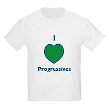 I Love Progressives! Kids T-Shirt