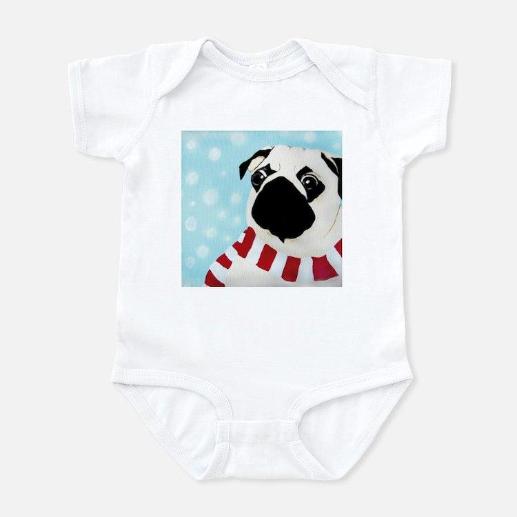 Cute Best pug design Infant Bodysuit