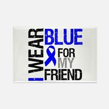 I Wear Blue Friend Rectangle Magnet