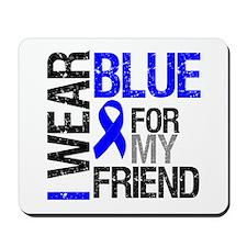 I Wear Blue Friend Mousepad
