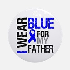 I Wear Blue Father Ornament (Round)