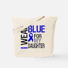 I Wear Blue Daughter Tote Bag