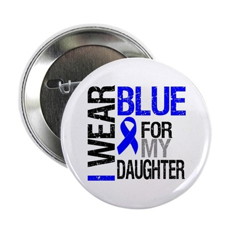 "I Wear Blue Daughter 2.25"" Button"