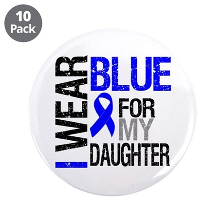 "I Wear Blue Daughter 3.5"" Button (10 pack)"