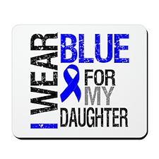 I Wear Blue Daughter Mousepad